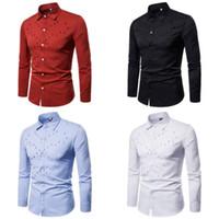 Slim Fit New homens à moda Camisas Casual Blusa Macio T-Formal manga comprida Shrts Reino Unido