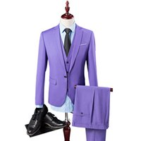 Navy Blue Slim Fit Wedding Costume Suit for Men Groom Suits ...