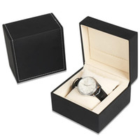 Watch Box PU Leather Watch Display Case with Pillow Jewelry ...