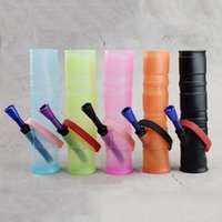 7. 5 inch Portable Unbreakable Bongs 5 Colors Silicone Smokin...