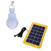 Alta Brilhante IP65 À Prova D 'Água 4 W LED Lâmpada Solar Portátil Movido A Energia Solar LEVOU Lâmpada de Iluminação Ao Ar Livre para Camping Jardim Dezembro