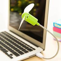 Seguro Low Power Energy Saving flexível Mini ventilador de refrigeração para Gadgets Fan Notebook computador portátil USB USB