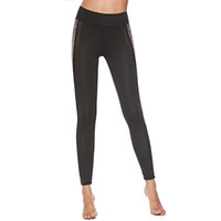 Moda Push Up Fintess Leggings Mujer Leggings de entrenamiento Mujer de malla delgada Patchwork Jeggings
