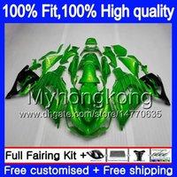 Iniezione per Kawasaki ZX 14R ZZR1400 2006 2007 2008 2009 2010 2011 Gloss verde 223MY.29 ZZR1400 ZX14R ZX14R 06 07 08 09 10 11 carenature