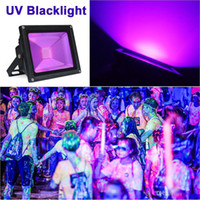 PIR Motion Sensor 10W 20W 30W 50W LED UV Black Light Luz de inundação AC85-265V Outdoor Stage Luz para Blacklight Partes DJ Disco Lamp
