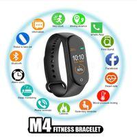 M4 스마트 밴드 피트니스 추적기 시계 스포츠 심장 박동 스마트 시계를 팔찌 0.96 인치 Smartband 모니터 건강 팔찌