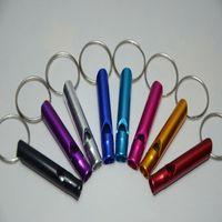 Мини Открытого Туризм Отдых Свист алюминиевого металл Emergency Survival Whistle Спасательный Whistle Key Chain с кольцом A019