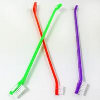 Chien Chat Brosse à dents Toilettage pour animaux dentaires Brosse à dents lavage chiot Outils de nettoyage des dents SN697
