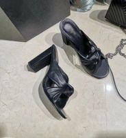 2020 saltos altos últimas chinelos top designers de moda feminina de espessura de couro chinelos de fundo sapatos de praia grande parte inferior Chinelos Tamanho 35-41 4 colo