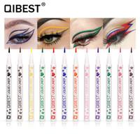 QIBEST Eyeliner 12 Colors Waterproof Liquid Eyeshadow Pencil Pen Make Up Colorful Long Lasting Eye Liner Beauty Cosmetics