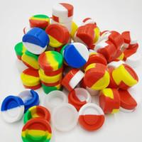 Fabrika DHL Ücretsiz Kargo Toptan Mix Renkler 2ml silikon mum konteyner Yapışmaz BHO Bu bozmak Ambalaj Kavanoz