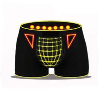 Qualitäts-Mann-Unterwäsche der Männer Sexy Magnetic Therapy Boxershorts Health Care Unterwäsche breathable beiläufige Boxer Männer Schlüpfer