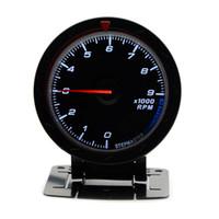 2.5 بوصة 60 ملليمتر 12 فولت سيارة المقياس متر الدوران rpm المقياس 9000 دورة في الدقيقة الأسود الوجه بدون شعار
