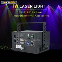 Laser-Projektor RGB 3in1 Dj Disco-Licht-DMX Bühnenbeleuchtung 1W Laser zum Verkauf ILDA DMX Control Laser-Stadiums-Licht