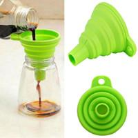 أدوات التخصص سيليكون صغيرة قابلة للطي سيليكون المطبخ قمع النطاط جل المطبخ قابلة للطي قمع لون عشوائي