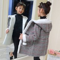 New Winter Girls Fashion Plus Cappotto in lana spessa di velluto