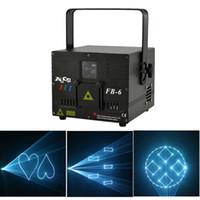 AUCD 2W DMX ILDA Luz de proyección blanca Proyector láser Luz DJ Fiesta Discoteca Profesional KTV Boda Iluminación de escenario FB-6-W-2W