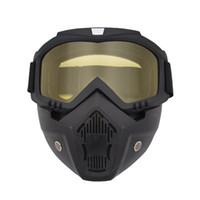 للرؤية الليلية نظارات التزلج على الجليد مع قناع قابل للفصل Windproof uv400 التزلج نظارات قناع الشتاء الرياضة نظارات Snowmobile