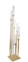 Wedding table candelabra 8 pieces stands high end gold finis...