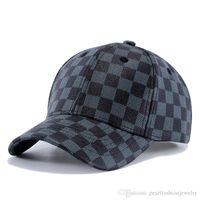 8b54719b7454f 2019 Mens ajustable famoso diseñador sombreros de lujo nuevo cuero béisbol  sombreros mujeres moda Drake Bone Cap Plaid Casquette Dropshipping