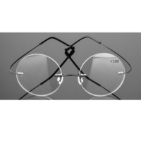 1d6bc748afb New Arrival. Brand Pd63 Rimless Reading Glasses Men Titanium Alloy Fold  Women Circular Eyeglasses Presbyopic Frameless Eyewear ...