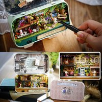CUTE ROOM Doll House Furnitures Caixa de Teatro DIY Modelo de Miniaturas De Madeira Dollhouse Brinquedos Para crianças Campo Notas