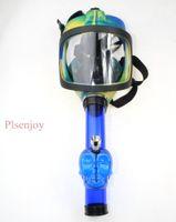 2021 다채로운 가스 마스크 봉수 Shisha 아크릴 흡연 파이프 Sillicone 물 담뱃대 담배 튜브 도매