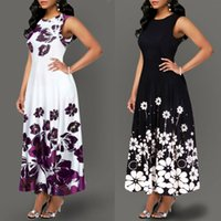 Large Size Elegant Women' s Floral Print Long Maxi Dress...