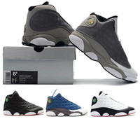 13 Atmosphere Grey 13s BARONS Atmosphere Grey DIRTY BRED 2013 RILASCIA BARONE Sneakers Con Scatola Uomo Donna Scarpe da Basket