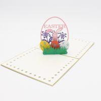 Cartão de convite de Páscoa Estereoscópico Pequeno Handmade Cartão Presentes Populares Criativo Papel Art Oco Out Hot Vendas Moda 5zyC1