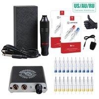 Anfänger Tattoo-Set Set Motor-Feder-Maschine USA Gun Stromversorgung Needles T200609
