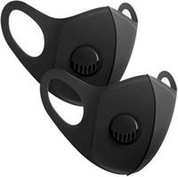 US STOCK spugna maschera con valvola riutilizzabile lavabile maschera facciale maschera di protezione Anti Inquinamento antipolvere Pacchetto individuale Filtro trasporto veloce