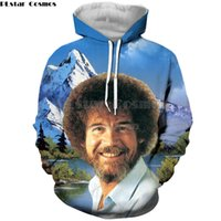 2019 Mode Hommes / Femmes hoodies PLstar Cosmos Goutte d'expédition peintre Bob Ross Celebrity impression 3d unisexe Casual Sweat à capuche