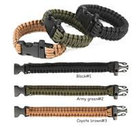 Freies Verschiffen Paracord Fallschirm-Schnur Lanyard Überlebens-Armband-Überlebens-paracord Armband, Außen BraceletType Außen Armband