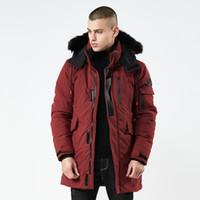 Para hombre de la chaqueta con capucha caliente Fleecet invierno de los hombres chaqueta de cuello de la piel por la chaqueta de los hombres abrigo de gran tamaño para el otoño invierno