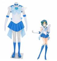 Athemis Anime Sailor Moon Mizuno Ami / Ami Mizuno Süper S Cosplay Kostüm Custom Made Herhangi boyutu Elbise Yüksek Kalite