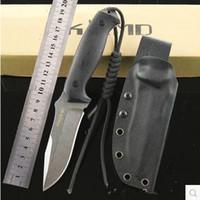 Fester Hot Blatt-Messer Stonewashed D2 Blatt-Schwarz G10 Griff Jagdlager Überleben taktisches gerades Messer im Freienwerkzeug
