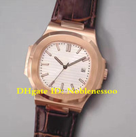 8 Renk Klasik Model Üst Erkek İzle Beyaz 18 K Rose Altın İzle 5711R 5711 / 1R-001 5711 Deri Kayış Otomatik erkek Saatler Saatı