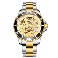 CHENXI Marke Classic Blue Lünette Männer Uhren automatische mechanische Armbanduhr Male Edelstahl-Bügel-001-Uhr-Geschenk für Mann