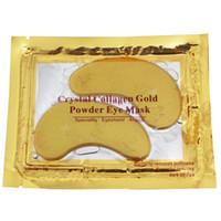 Dropshipping Nuovo collagene Crystal Eye Masks Anti-gonfiore idratante Maschere per gli occhi Maschere anti-invecchiamento collagene oro maschera per gli occhi in polvere