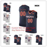 2019 Personnalisé Hommes Enfants Femmes UVC Maillot De Basket Jersey Virginia Cavaliers 5 Kyle Guy Jersey N'importe quel Nom Numéro 2019 Champions NCAA Basketball Jerseys