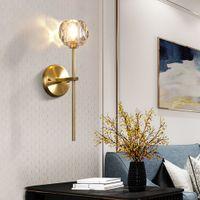 الوحوش الذهب والبرونز لون مصابيح جدارية مزدوجة زجاج الكرة الرجعية علوي جدار الشمعدانات نوم غرفة المعيشة الرواق مصابيح الإضاءة