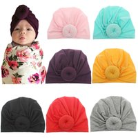 Hot Newborn Baby Toddler Donut Hat Knot Indian Turban Hats K...