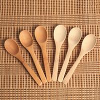Madeira Jam Colher do bebê mel Colher de café Colher New Kitchen delicado Usando Condimento Pequeno 12,8 * 3 centímetros RRA2837-6