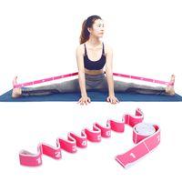 Bandes de résistance Split Stretching Yoga Stretch Strap avec 8 boucles Bande de danse en nylon élastique Outil de formation de la dureté