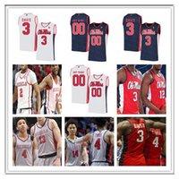 2020 NCAA الرجال الصورة آنسة المتمردون كلية كرة السلة تيرينس ديفيس بليك HINSON DEVONTAE شولر كاظم SY BREEIN تايري KJ BUFFEN الفانيلة