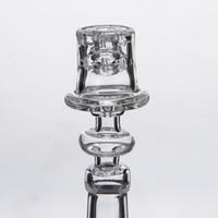 다이아몬드 매듭 Enail 석영 전기 손톱 20mm 코일에 대 한 공동 19.5 mm 그릇 젖빛 우아한 디자인 Domeless Dab Rig 523