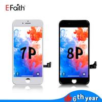 EFaith 흑백 LCD 아이폰 7 플러스 / 8 플러스 LCD 화면 디스플레이 터치 스크린 디지타이저 패널 조립 무료 배송