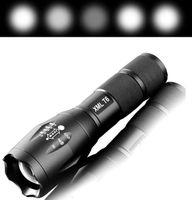 كري XML T6 3800Lumens السلطة العليا LED الشعلات زوومابلي التكتيكية البسيطة الصمام مشاعل ضوء الشعلة 18650 بطارية مصباح المشاعل المشي لمسافات طويلة التخييم