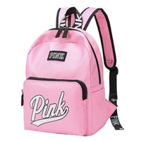 Pink High Quality Letters Backpack Delicate Travel Knapsack ...